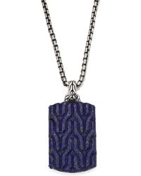 John Hardy - Classic Chain Collection Pendant Chain Necklace - Lyst