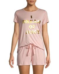 Juicy Couture - Two-piece Contrast Pajama Set - Lyst