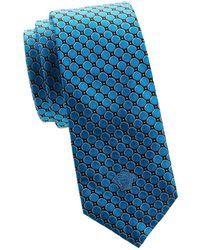 Versace - Geometric Silk Tie - Lyst