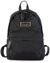 Marc Jacobs Mini Quilted Backpack - Black