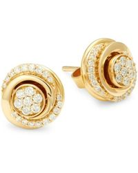 Hueb Women's 18k Yellow Gold & 0.34 Tcw Diamond Stud Earrings - Metallic