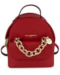 Karl Lagerfeld Mini Mia Leather Backpack - Multicolour