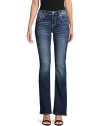 Miss Me Chloe Back-embellished Boot-cut Jeans - Blue