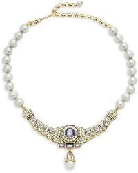 Heidi Daus Goldtone & Crystal, Multicolour Rhinestones & Glass Beads Necklace - Metallic