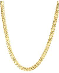 Saks Fifth Avenue Miami Cuban 14k Yellow Gold Chain Necklace - Metallic