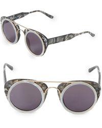 6565fb6a98e Smoke X Mirrors - Sodapop Iii 47mm Round Sunglasses - Lyst