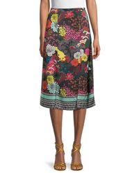 Alice + Olivia Athena Clean Midi Skirt - Multicolour
