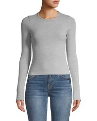 Project Social T Ribbed Long-sleeve Top - Gray