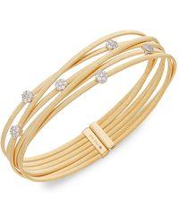 Saks Fifth Avenue 14k Yellow Gold & Diamond Cuff Bracelet - Metallic