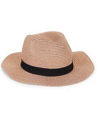 Vince Camuto Allover Shine Panama Hat - Multicolour