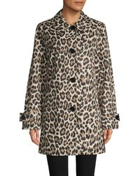 Kate Spade Leopard-print Trench Coat - Multicolour