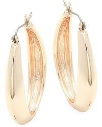 Ava & Aiden - Wide Oval Hoop Earrings - Lyst