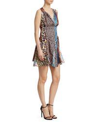 Carven Mixed Print Mini Dress - Multicolor