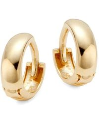 Saks Fifth Avenue - Women's 14k Yellow Gold Dome Huggie Hoop Earrings - Lyst