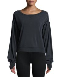 BLANC NOIR Women's Amour Cropped Sweatshirt - Mulberry - Size S - Black
