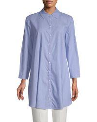 BB Dakota Jules Pinstripe Cotton Tunic - Blue