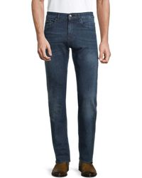 BOSS by Hugo Boss Slim-fit Washed Jeans - Blue