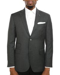 Michael Bastian Slim-fit Checked Wool Jacket - Grey