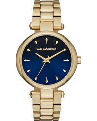 Karl Lagerfeld Aurelie Yellow Goldtone Stainless Steel Three-hand Bracelet Watch - Metallic