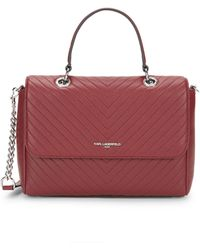 Karl Lagerfeld Quilted Leather Satchel - Multicolour