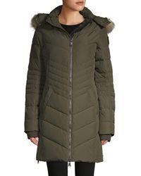 Pajar Fox Fur-trim Down Jacket - Black