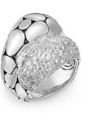 John Hardy - Palu White Sapphire & Sterling Silver Ring - Lyst