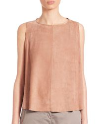 Eleventy - Sleeveless Suede Top - Lyst