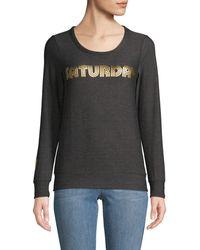 Chaser Graphic Roundneck Sweatshirt - Black