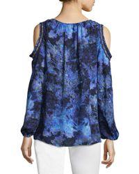Elie Tahari - Cathy Printed Silk Blouse - Lyst