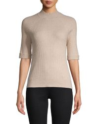 Ellen Tracy - Short-sleeve Cable Top - Lyst