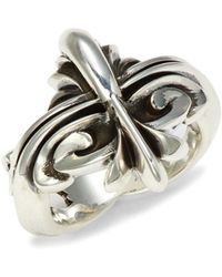 King Baby Studio Sterling Silver Scroll Ring - Metallic