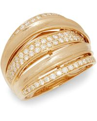 Effy 14k Yellow Gold & White Diamond Ring - Metallic