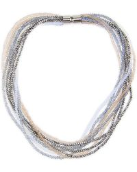 Saachi - Multi-strand Crystal Beaded Necklace - Lyst