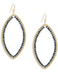 Chan Luu - Mystic Citrine Stone & Chinese Crystal Teardrop Earrings - Lyst