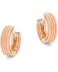 Roberto Coin Women's 18k Rose Gold & Ruby Earrings - Red
