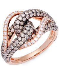 Le Vian - Chocolatier® 14k Vanilla Gold®,vanilla Diamond® & Chocolate Diamond® Ring - Lyst