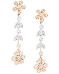 Effy - Diamond, 14k White & Yellow Gold Dangle & Drop Earrings - Lyst