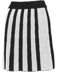 Maje Women's High-rise Chevron Skirt - Black Multi - Size 2 (m)