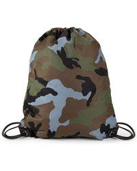 Valentino - Camo Drawstring Backpack - Lyst