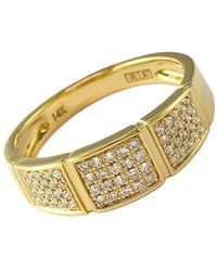 Effy | D Oro 14kt Yellow Gold And Diamond Band Ring | Lyst