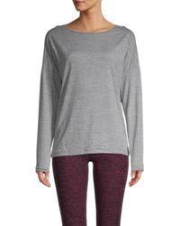 Nine West Women's Essential Long-sleeve Top - Stormy Gray - Size M