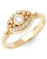 Temple St. Clair - Diamond And 18k Yellow Gold Evil Eye Statement Ring - Lyst