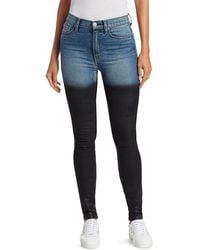 Hudson Jeans Ombre High-rise Skinny Jeans - Blue