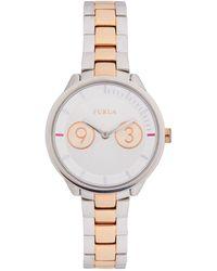 Furla Two-tone Stainless Steel Bracelet Watch - Multicolour