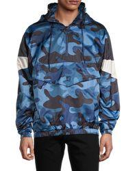 Standard Issue Camouflage-print Windbreaker - Blue