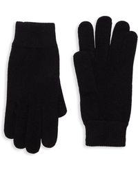 Portolano - Ribbed Trim Knit Gloves - Lyst