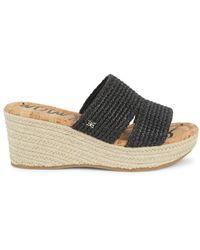 Sam Edelman Women's Roxanne Platform Wedge Sandals - Black - Size 10