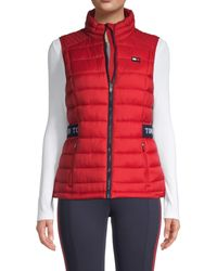 Tommy Hilfiger Stand Collar Puffer Vest - White