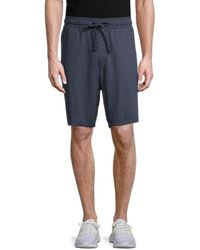 Michael Kors Men's Graphic Lounge Terry Shorts - Midnight - Size S - Blue