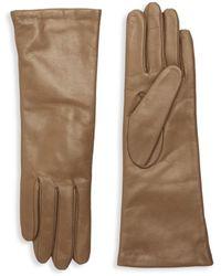 Portolano Women's Slip-on Leather Gloves - Teak - Size 7 - Multicolour